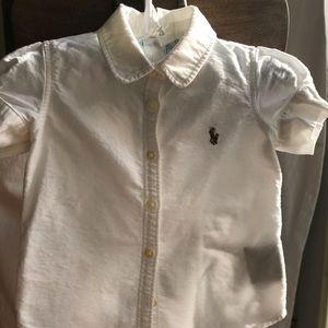 Ralph Lauren Girls Puff Sleeve Oxford Shirt T2